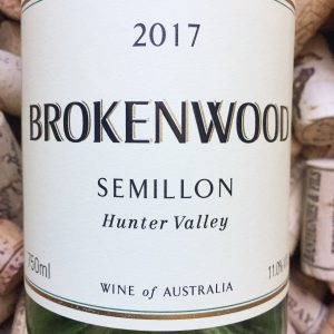 Brokenwood Semillon Hunter Valley 2017