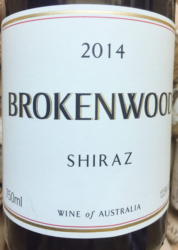 Brokenwood Shiraz Australia 2014