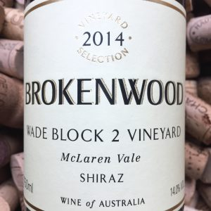 Brokenwood Shiraz Mc Laren Vale Wade Block 2 2014
