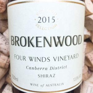 Brokenwood Shiraz Four Winds Canberra 2015