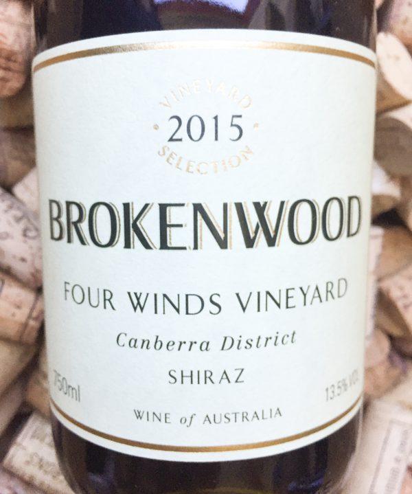 Brokenwood Shiraz Four Winds Canberra 2015