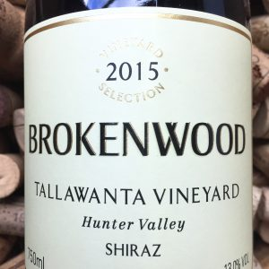 Brokenwood Shiraz Tallawanta Hunter Valley 2015