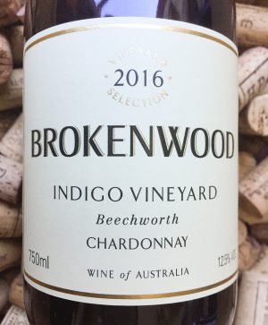 Brokenwood Chardonnay Indigo Vineyard Beechworth 2016