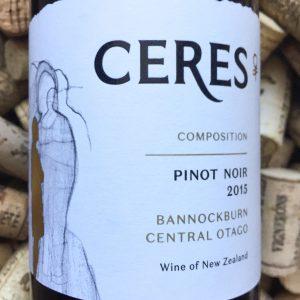 Ceres Pinot Noir Composition Bannockburn Central Otago 2015
