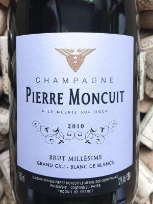 e Moncuit Grand Cru Champagne Millesime 2010
