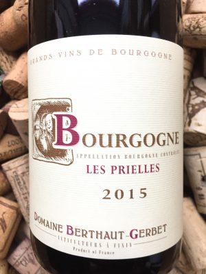 Domaine Berthaut Bourgogne Pinot Noir Les Prielles 2018