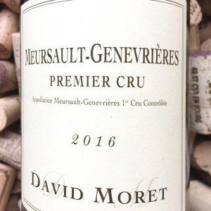 David Moret Meursault 1er Cru Les Genevrieres 2016