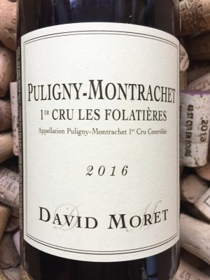 David Moret Puligny Montrachet 1er Cru Folatieres 2016