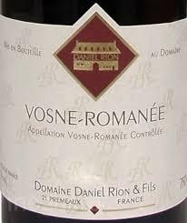 Daniel Rion Vosne Romanee 2014