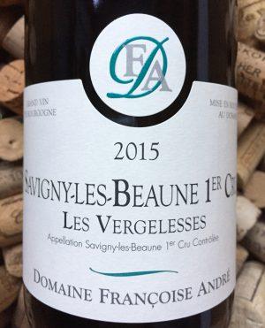 Francoise Andre Savigny Les Beaunes 1er Cru Vergelesses 2015