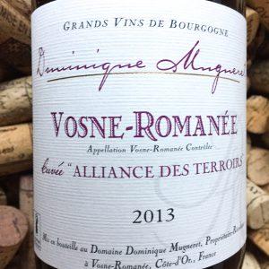 Dominique Mugneret Vosne Romanee Alliance des Terroirs 2013
