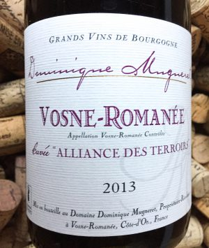 Dominique Mugneret Vosne Romanee Alliance des Terroirs 2013