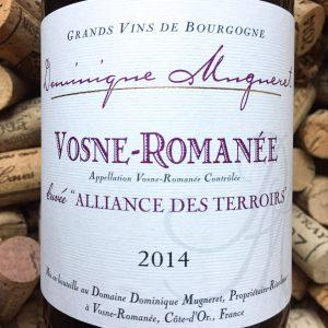 Dominique Mugneret Vosne Romanee Alliance des Terroirs 2014