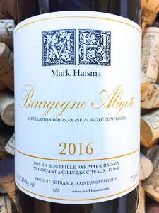 Mark Haisma Bourgogne Aligote 2016