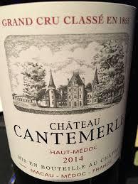 Chateau Cantemerle Haut Medoc 5e Grand Cru Classe 2014