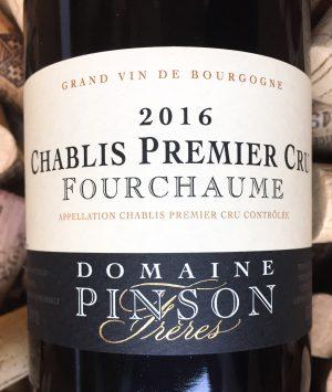 Domaine Pinson Chablis 1er Cru Fourchaume 2016