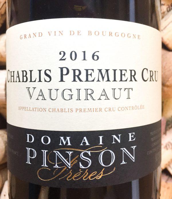 Domaine Pinson Chablis 1er Cru Vaugiraut 2016
