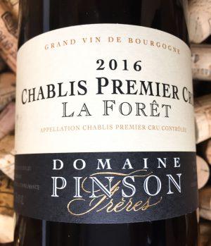 Domaine Pinson Chablis 1er Cru La Foret 2016