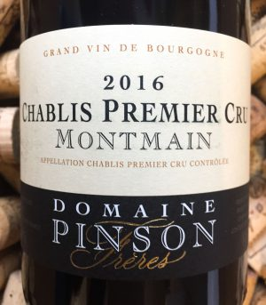 Domaine Pinson Chablis 1er Cru Montmain 2016