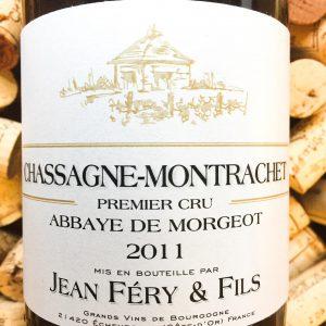 Jean Fery Chassagne Montrachet 1er Cru Abbaye Morgeot 2011