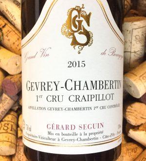 Gerard Seguin Gevrey Chambertin 1er Cru Craipillot 2016