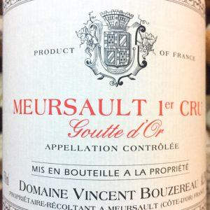 Vincent Bourzereau Meursault 1er Cru Goutte d'Or 2014