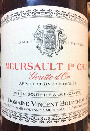 Vincent Bourzereau Meursault 1er Cru Goutte d'Or 2015