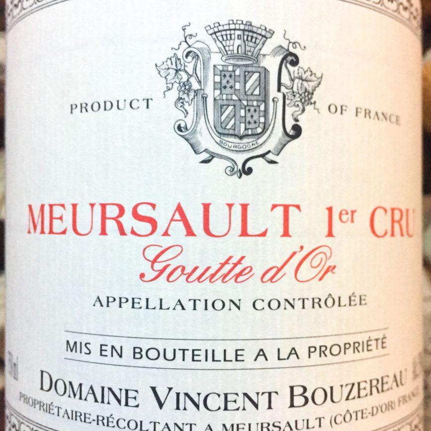 Weer binnen: Vincent Bouzereau Meurault Premier Cru Goutte d'Or 2018