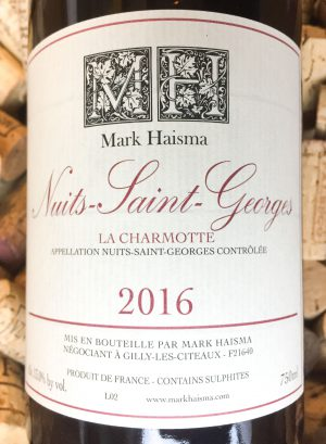 Mark Haisma Nuits Saint Georges 2016