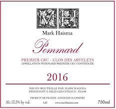 Mark Haisma Pommard Premier Crus Clos les Arvelets 2016