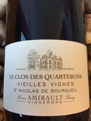Clos des Quarterons Vielles Vignes Saint Nicolas de Bourgueil 2014