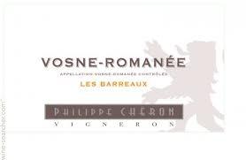 Philippe Cheron Vosne Romanee Les Barreaux 2014