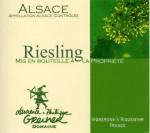 L&P Greiner Riesling Grand Cru Kirchberg Alsace 2008