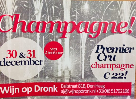 Champagne proeverij 30 & 31 december 14.00-18.00