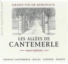 Château Cantemerle Les Allees de Cantemerle Haut Medoc 2015