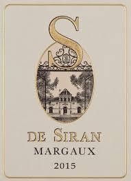 Château Siran S de Siran Margaux 2016