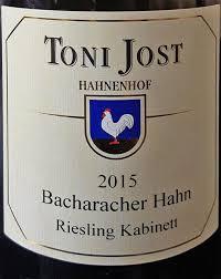 Toni Jost Bacharacher Hahn Riesling trocken Mittelrhein 2015