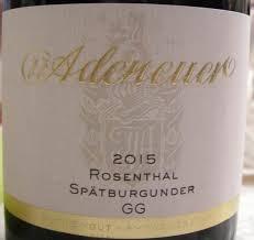 Adeneuer Ahrweiler Rosenthal Spätburgunder GG Ahr 2015