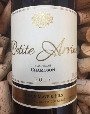 Simon Maye Petite Arvine Chamoson Valais 2017
