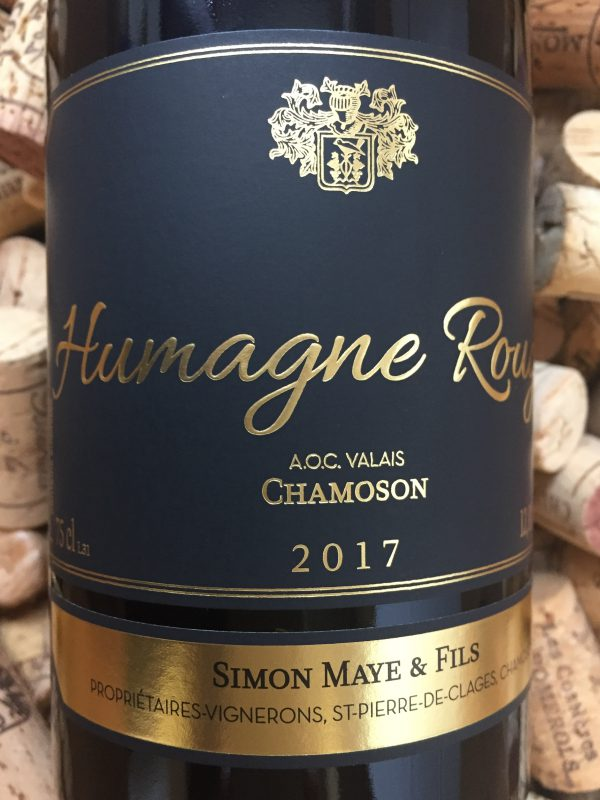 Simon Maye Humagne Rouge Chamoson Valais 2017