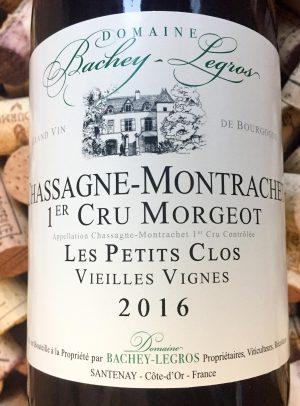 Bachey Legros Chassagne Montrachet Morgeot 2016