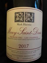 Mark Haisma Morey Saint Denis Premier Cru Les Chaffots 2017