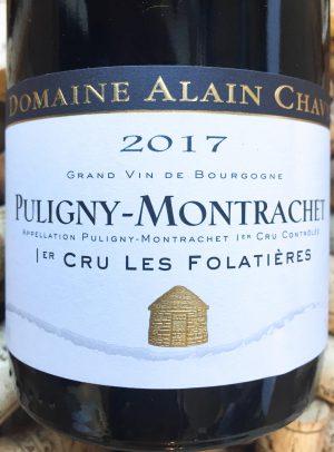 Alain Chavy Puligny Montrachet Premier Cru Folatieres 2017