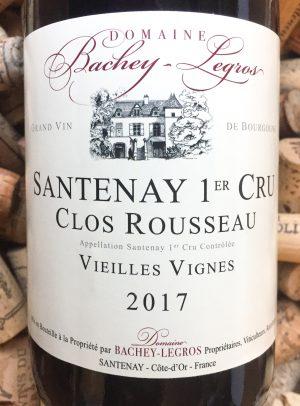 Bachey-Legros Santenay Clos Rousseau Vieilles Vignes 2017