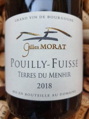 Gilles Morat Pouilly Fuisse Terres du Menhir 2018