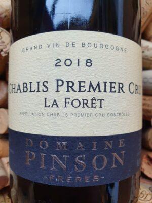Domaine Pinson Chablis Premier Cru La Foret 2018