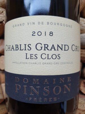 Domaine Pinson Chablis Grand Cru Les Clos 2018