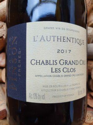 Domaine Pinson Chablis Grand Cru Les Clos Authentique 2017