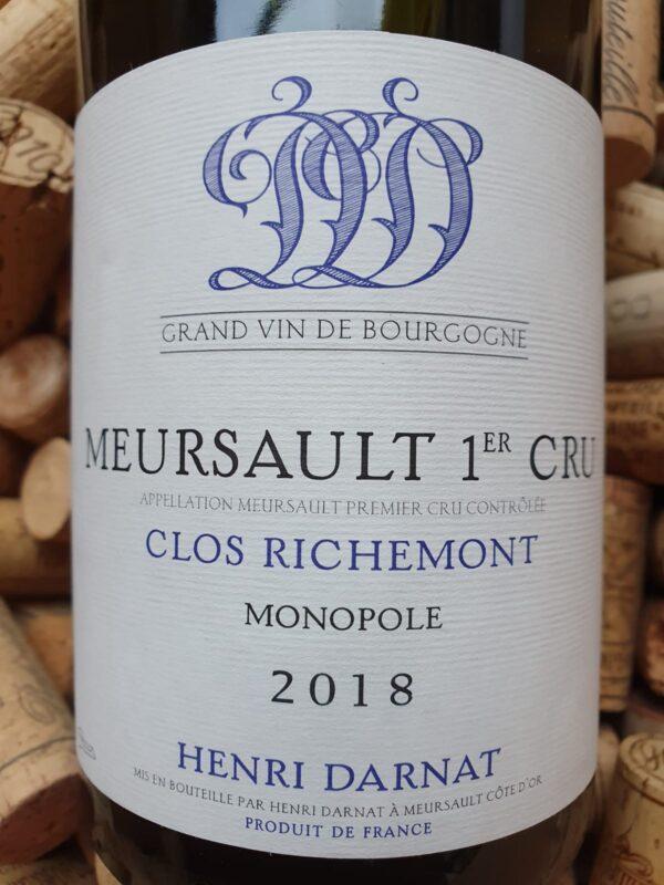 Henri Darnat Meursault Premier Cru Clos Richemont Blanc 2018