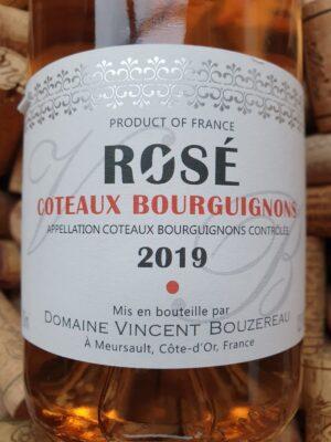 Vincent Bouzereau Coteaux Bourguignons rosé 2019